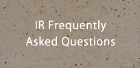 IR Frequently Asked Questions